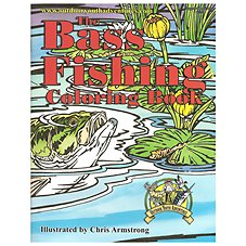 Bass Fishing Coloring Book for Kids