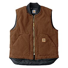 Carhartt Arctic-Quilt-Lined Sandstone Vests for Men