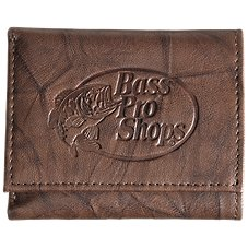 Bass Pro Shops Montana Leather Trifold Wallet - Bass Pro Shops Logo
