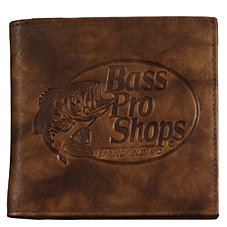 Bass Pro Shops Montana Leather Hipster Wallet - Bass Pro Shops Logo
