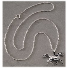Kabana Jewelry Sterling Silver 18'' Necklace with Arabian Horse Pendant