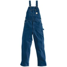 Carhartt Washed Denim Bib Overalls for Men