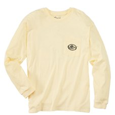 Offshore Angler Distressed Logo True Fit Long-Sleeve T-Shirts for Men