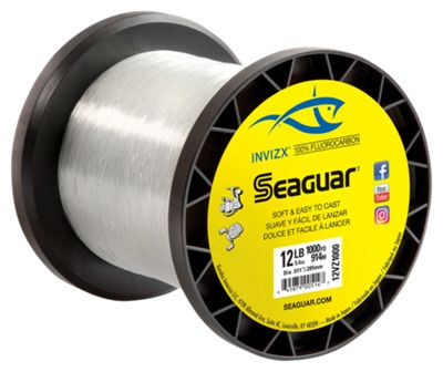 Seaguar invizx fluorocarbon fishing line 1000 yards for Bass pro shop fishing line