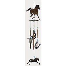 Sunset Vista Designs Wind Chime - Horse & Horseshoes