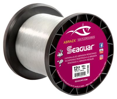 Seaguar abrazx fluorocarbon fishing line 1000 yards for Bass pro shop fishing line