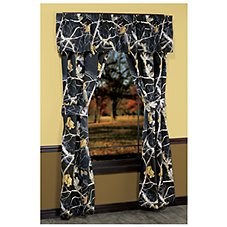 Bass Pro Shops Realtree APC Black Collection Rod Pocket Drapes or Valance