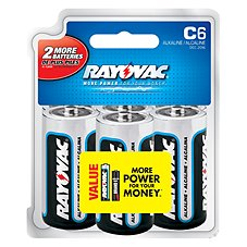 Rayovac C6 Alkaline Battery 6 Pack