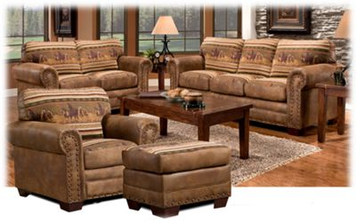 the lodge collection 4-piece living room furniture set | bass pro
