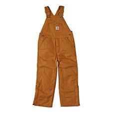 Carhartt Washed Duck Lined Bib Overalls for Little Boys