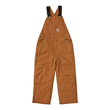 Carhartt Washed Duck Lined Bib Overalls for Boys