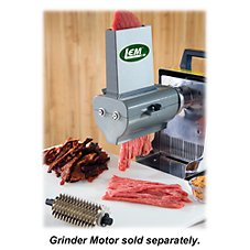 LEM Products Two-in-One Jerky Slicer and Tenderizer Grinder Attachment