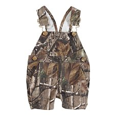 Bass Pro Shops Camo Bib Overall Short for Babies