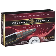 Federal Premium Vital-Shok Nosler Partition Centerfire Rifle Cartridges