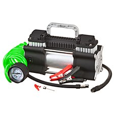Slime 2X Twin Cylinder Heavy Duty 12 Volt Air Compressor