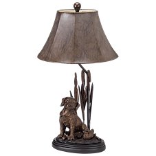 Dog with Decoy Table Lamp