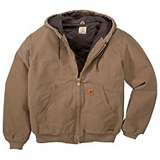Carhartt Quilted Flannel-Lined Sandstone Active Jacket for Men