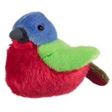 Wild Republic Audubon Painted Bunting Stuffed Animal with Sound