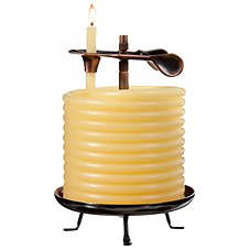 Eclipse Home Decor Candle by the Hour 60-Hour Wide Candle and Refill