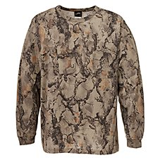 Natural Gear Camo Long-Sleeve T-Shirts for Men