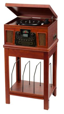 Crosley Performer 5 In 1 Turntable Entertainment Center With Stand