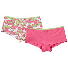 Natural Reflections Kiss My Bass Boy Shorts Set for Ladies - 2-Pack