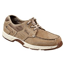 World Wide Sportsman Newport 3 Eye Boat Shoes for Men - Dark Taupe