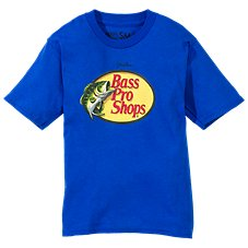 Bass Pro Shops Johnny Morris Woodcut Logo T-Shirt for Kids