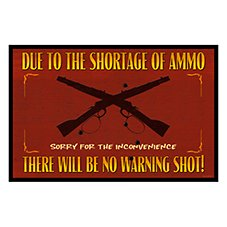 Bass Pro Shops Warning Shot Sign Welcome Mat