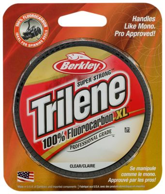 Berkley trilene 100 fluorocarbon xl professional grade for Bass pro shop fishing line