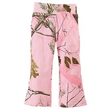 Bass Pro Shops Realtree APC Pink Camo Yoga Pants for Babies or Toddler Girls