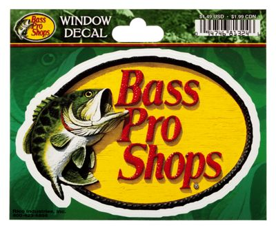 bass pro shops die cut vinyl window decal bass pro shops. Black Bedroom Furniture Sets. Home Design Ideas