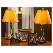 Bass Pro Shops 5-Piece Table Lamp and Accessories Set