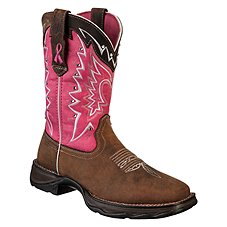 Durango Lady Rebel Pink Ribbon Pull-On Western Boots for Ladies