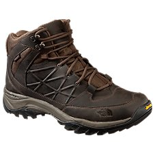 The North Face Storm Mid WP Leather Waterproof Hiking Shoes for Men - Coffee Brown