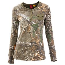 SHE Outdoor Pocket Henley Camo Shirt for Ladies