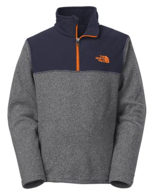 The North Face Glacier 1/4-Zip Fleece Pullover for Boys | Bass Pro ...