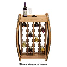 Napa East Collection Wine Barrel 24-Bottle Narrow Wine Rack