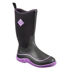 The Original Muck Boot Company Hale Mid 12'' Waterproof Sport Boots for Ladies - Black/Purple