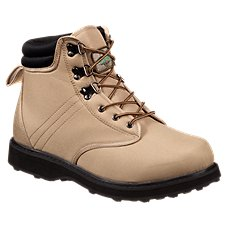 White River Fly Shop Rubber Sole Wading Boots for Men - Khaki