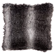 Bob Timberlake Black Wolf Faux Fur Pillow