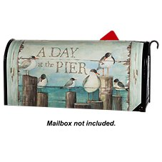 Magnet Works MailWraps Magnetic Mailbox Cover - ''A Day at the Pier'' by Susan Winget