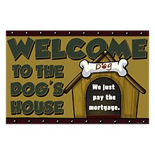 Bass Pro Shops 'Dog's House' Welcome Mat