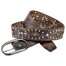 Natural Reflections Floral Cutout Studded Belt for Ladies