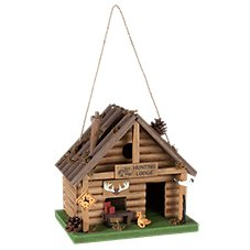 Bass Pro Shops Hunting Lodge Wooden Birdhouse