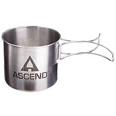Ascend Stainless Steel Stash Away Camp Mug