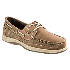World Wide Sportsman Lake Front 2-Eye Boat Shoes for Men - Brown