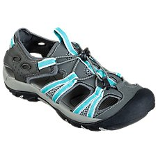 World Wide Sportsman Oasis III Water Shoes for Ladies - Grey/Turquoise
