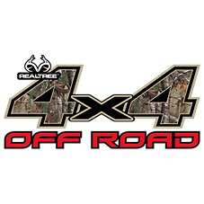 Realtree 4x4 Off Road Camo Auto Decal