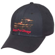 Bass Pro Shops Twill Cap with Sublimation Flag Print for Men